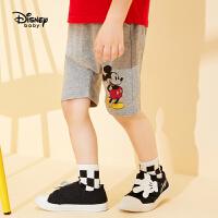 【99元3件】迪士尼婴幼儿童装20夏新款探险日记男童针织微哈中裤
