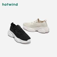 热风潮流时尚女士系带运动休闲鞋深口慢跑鞋H12W0109