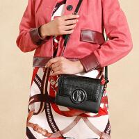 赫莲娜女包牛皮石头纹logo锁扣单肩包潮流时尚斜挎包小方包小款