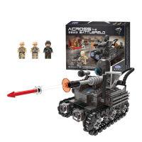 穿越战场系列兼容乐高军事坦克模型男孩拼装玩具小颗粒儿童益智拼插积木