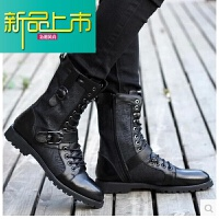 新品上市男士马丁靴子韩版潮流男式高帮春秋复古长筒靴青年男靴子男鞋