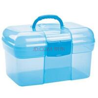 方形透明家庭药箱 保健药箱 储物箱H3117