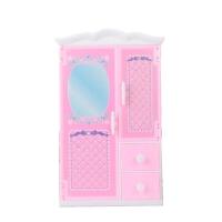 芭比娃娃的衣柜 芭比娃娃换装玩具衣柜收纳柜女孩公主玩具芭比配件 新款衣柜 适合30cm大娃娃