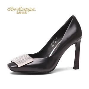 红蜻蜓旗下品牌金粉世家女鞋秋冬休闲鞋鞋子女高跟鞋JFB7006