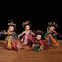 敦煌飞天摆件中国特色礼品北京绢人娃娃纪念品9寸仙女人偶送老外