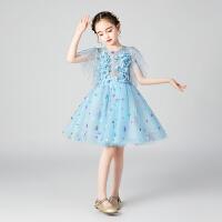 2019新款主持人蓬蓬纱裙洋气钢琴演出服连衣裙夏儿童礼服公主裙