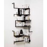 书柜客厅铁艺壁挂创意书架转角墙角置物架卧室隔板架墙上架收纳架挂壁挂墙上的书架层架