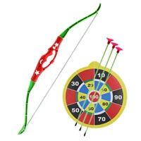弓箭玩具儿童弓箭吸盘射击古代亲子户外运动玩具男孩1~3岁4、10岁 绿箭侠(红色) 小弓箭红色