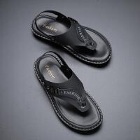 宜驰 EGCHI 凉鞋休闲男士沙滩两穿一脚蹬夹趾厚底防滑人字拖 K5311B10