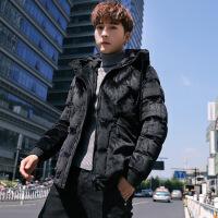 羽绒服男士冬季外套新款金丝绒短款加厚服潮流韩版袄男装