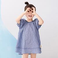 【秒杀价:198元】马拉丁童装女小童连衣裙2020夏装新款洋气泡泡袖短袖连衣裙