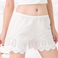 2条宽松打底短裤刺绣蕾丝防走光女夏纯棉新款安全裤薄款大码