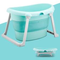 儿童洗澡桶抖音款加大号可折叠浴盆宝宝浴桶可坐躺婴儿洗澡盆小孩