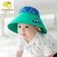 宝宝夏季空顶帽遮阳帽新款大帽檐男童女童防晒透气儿童潮帽子