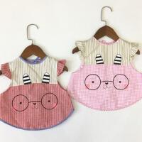 2个装 宝宝罩衣防水围兜吃饭兜围裙护衣男女童儿童吃饭衣无袖秋冬
