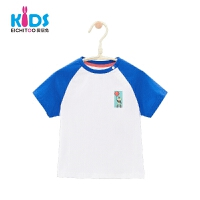 爱居兔童装2018夏季休闲印花男小童短袖T恤