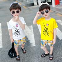 童装男童夏装套装儿童短袖T恤两件套潮宝宝