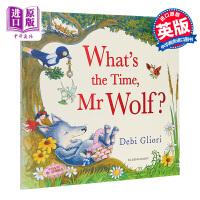【中商原版】What's the Time, Mr Wolf 老狼老狼几点了 儿童亲子故事读物睡前阅读 平装 英文原版