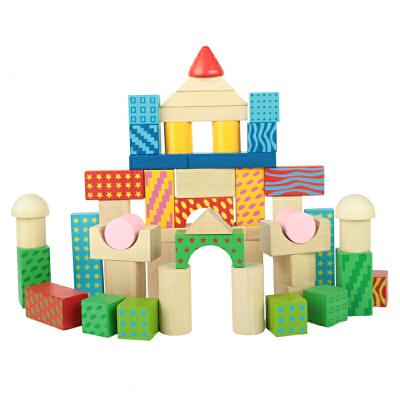 [当当自营]木玩世家 比好 100粒缤纷积木 桶装益智积木玩具 YT5479【当当自营】