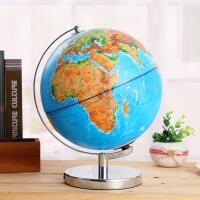 浮雕地球仪大号高清立体3D凹凸地形学生用AR智能客厅摆件发光台灯