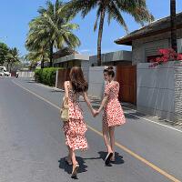 卡贝琳女闺蜜装裙子2019新款吊带蛋糕裙连衣裙女红色波点裙姐妹装仙女裙夏装女