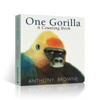英文原版进口绘本 One Gorilla Board Book 一只大猩猩 数字启蒙纸板书 低幼儿童益智阅读纸板书 A