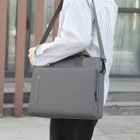 2020新款14寸电脑包大容量文件包男办公手提会议包休闲斜挎包职业女百搭ins多层拉链文件袋商务帆布