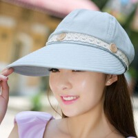 帽子女士夏天遮阳帽韩版潮户外出游大沿沙滩太阳帽可折叠凉帽