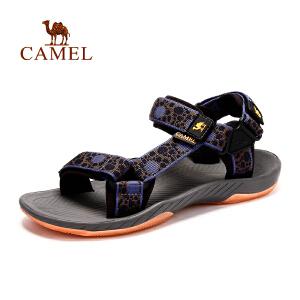 camel骆驼户外沙滩凉鞋 春夏季男款透气耐磨夜光凉鞋沙滩鞋