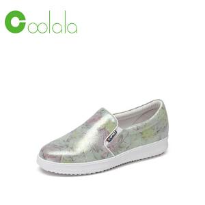 红蜻蜓旗下品牌  COOLALA女鞋秋冬休闲鞋板鞋女鞋子HTB7056