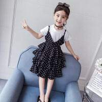 女童套�b夏�b�A�c裙子公主蛋糕裙�和�短袖�杉�套