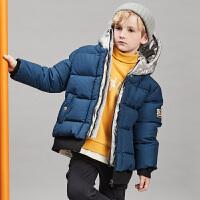 [3件3折价:258.9]davebella戴维贝拉kids冬季新款男童中大童保暖羽绒服DBK11170