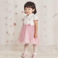 davebella戴维贝拉2020夏新款女童连衣裙宝宝汉服公主裙DBJ13694
