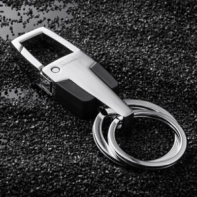 男士腰挂钥匙扣 创意汽车钥匙链金属双钥匙圈挂件