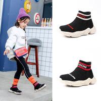 儿童袜子鞋针织运动休闲鞋保暖防滑女童鞋