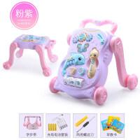 学步车手推车宝宝婴音乐玩具6-18个月可调速助步车三合一学步车
