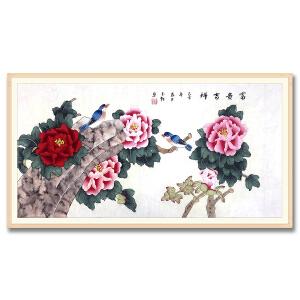 中国美术家协会会员、北京工笔重彩画会会员 耿玉轩《富贵吉祥》DW109