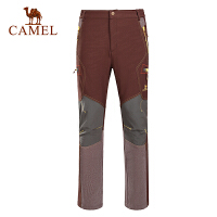 camel骆驼户外男款 秋冬耐磨保暖 软壳裤