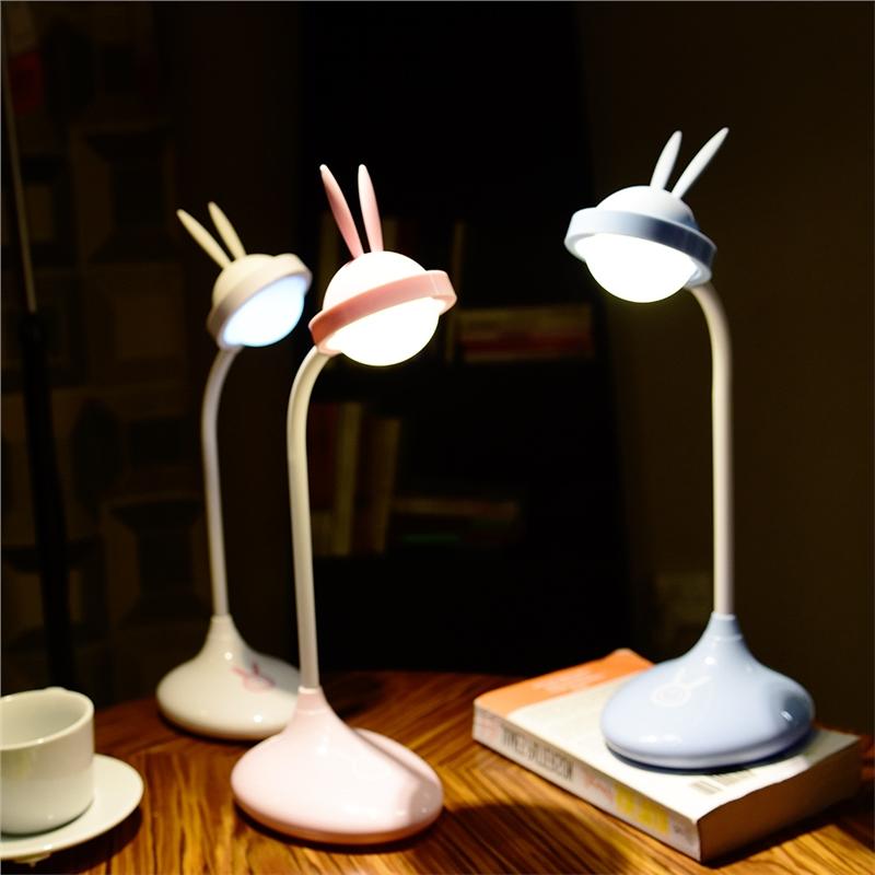 儿童护眼灯可蓄电保视力书桌宿舍卡通可爱学生寝室充电台灯