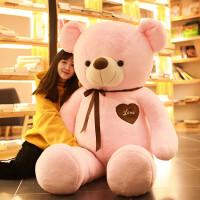 熊毛绒玩具送女友1.6米泰迪熊*抱抱熊公仔可爱布娃娃送女生 粉红色 拉直量2米