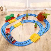 越诚托马斯小火车套装玩具电动轨道赛车儿童玩具男孩益智3-10岁