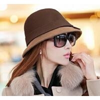 英伦礼帽  羊毛呢帽  帽子女  韩版潮时尚毡帽女士   盆帽渔夫帽