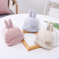 韩版夏季新款儿童鸭舌帽宝宝网帽男童女童夏天可爱防晒帽子