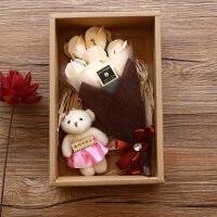 香皂花 7朵玫瑰香皂花礼盒七夕母节教师节送老师男女朋友
