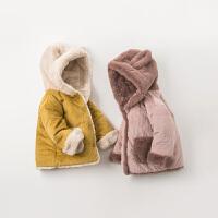 davebella戴维贝拉童装冬季新款男女童棉服宝宝加厚棉衣DBM11645