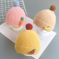 秋冬婴儿帽子超萌可爱男女宝宝毛线帽冬季婴幼儿保暖帽新生儿胎帽