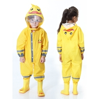 男童女童幼儿园小孩雨具儿童连体雨衣拉链款连脚雨裤套装
