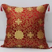 红木沙发靠垫中式喜庆抱枕靠枕套绸缎古典靠垫实木抱枕