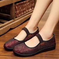 中老年人妈妈软底休闲老北京布鞋女34女士小码奶奶老人鞋老太太鞋