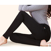 女款新款韩版修身加绒加厚女士外穿打底裤  女大码保暖女裤胖MM小脚裤弹力靴裤J